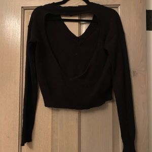 Olivaceous Sweaters - Cut out cropped sweater
